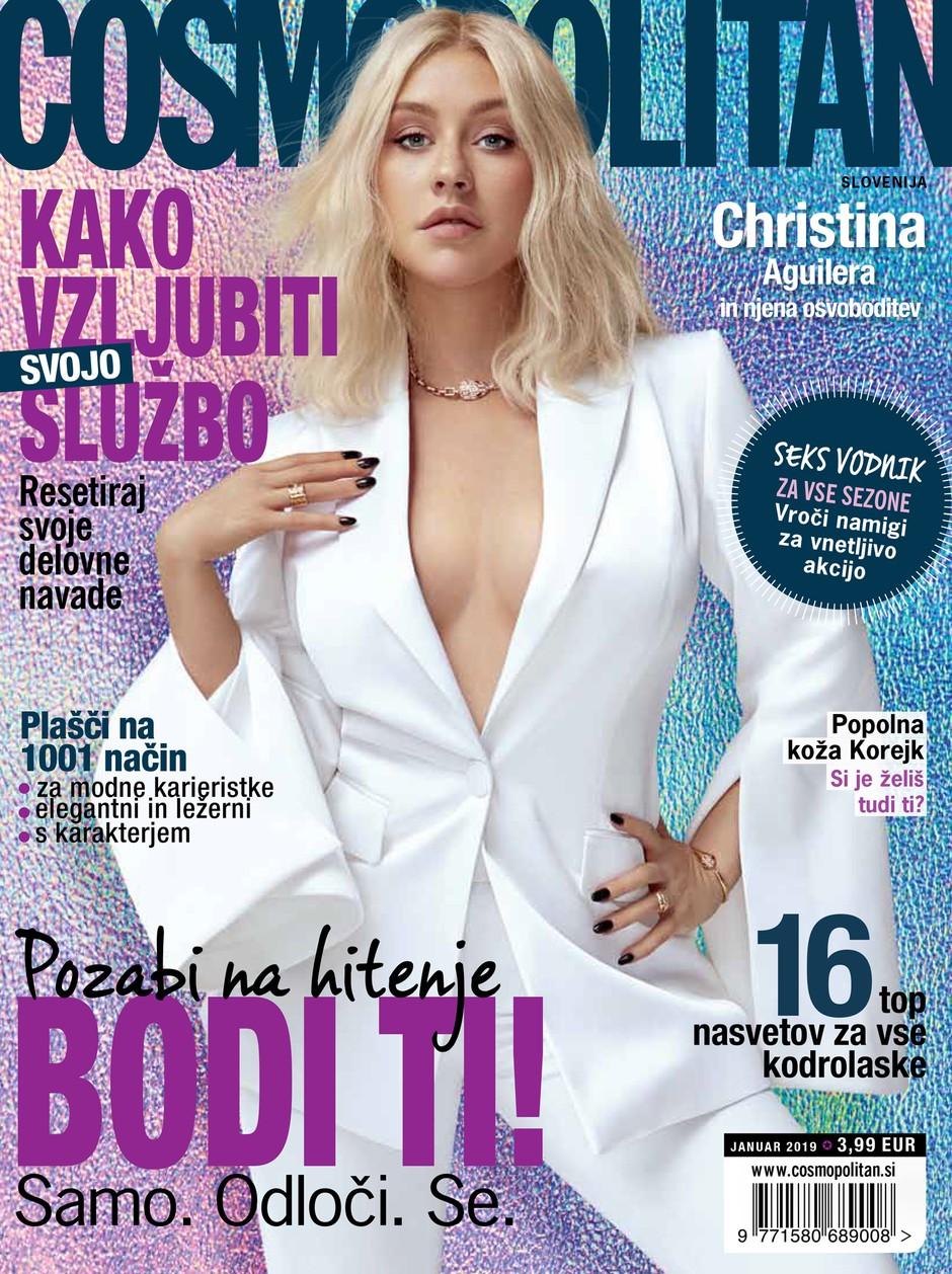 VROČE! Na naslovnici novega, januarskega Cosma je … Christina Aguilera! (foto: Kai Z. Feng)