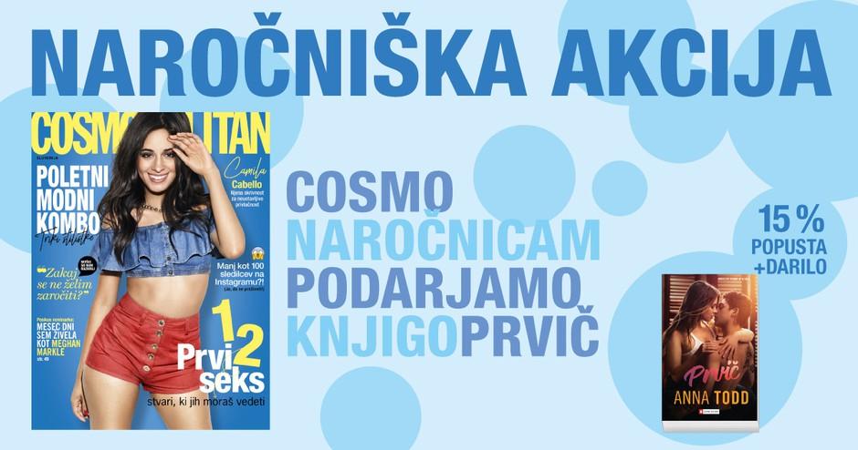 UGODNO: Cosmo letna naročnina + čudovito DARILO knjiga PRVIČ (foto: Cosmopolitan Slovenija)