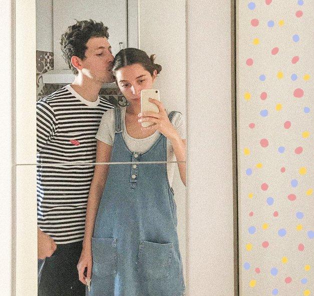 Poglej TO NENAVADNO fotografijo Zale in Gašperja, ki je sprožila val komentarjev (foto: Instagram.com/zalagasper)