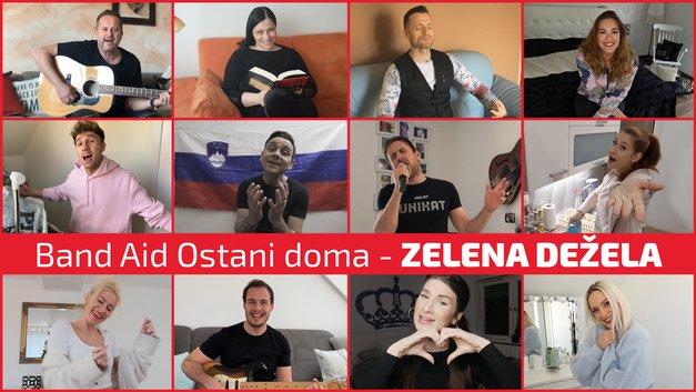 Prisluhni slovenskemu Band Aid in NOVI skladbi Zelena dežela' (foto: POP TV)