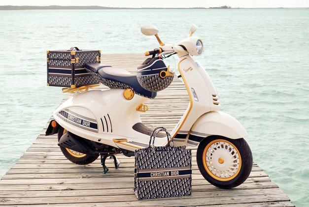 Kjuuuut! Poglej, kakšna je Vespa, ko jo oblikujejo ustvarjalci blagovne znamke Christian Dior (foto: Promocijsko gradivo)