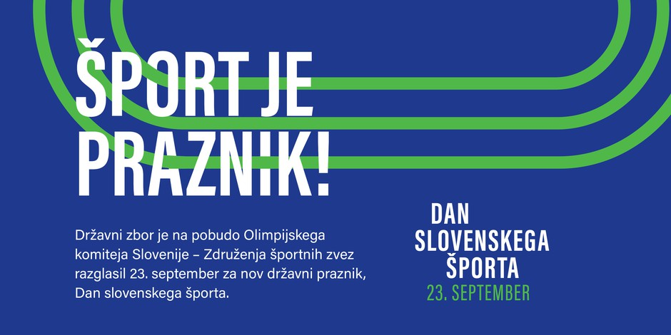 23. september razglašen za nov državni praznik - Dan slovenskega športa (foto: Promocijsko gradivo)