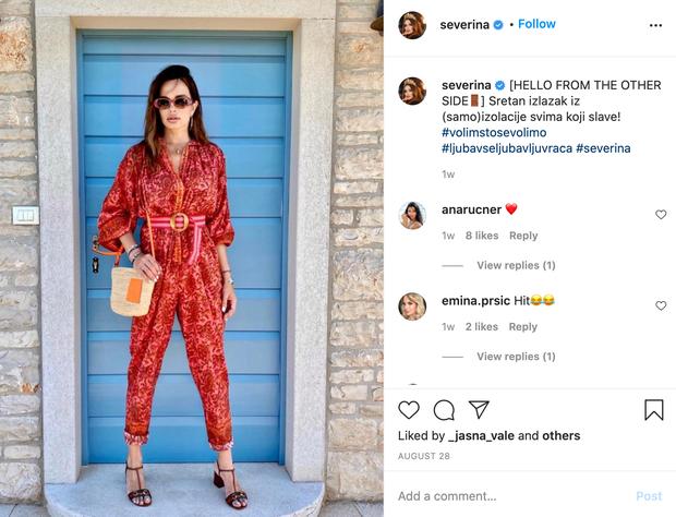 """👉Očitno več kot odlično! 🔥UAU, Severina! Pevka je namreč svojim sledilcem na Instagramu sporočila, da je končno """"svobodna"""", saj je …"""