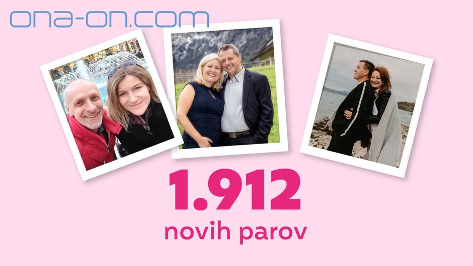 Rekordnih 1.912 novih ONA-ON.COM parov v 2020! #spletnaLjubezen