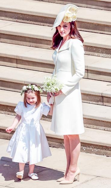... svoj porodniški dopust! Katina vloga na poroki je bilo obvladovanje otrok, ki so nevesti služili kot poročno spremstvo, vojvodinja …