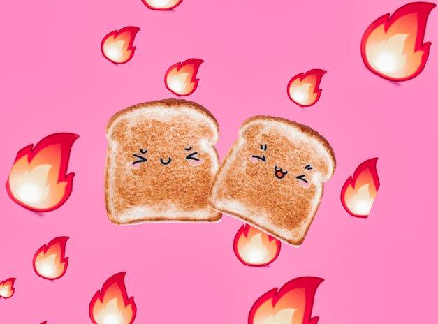 TAKO se s TOAST kruhom prepričaš, ali zaščitni sprej proti toploti na tvojih laseh res deluje (foto: Cosmo uredništvo/PicsArt)