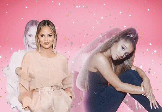 Ariana Grande in Chrissy Teigen prisegata na NAJGRŠO manikuro 'ever' (gel je dobil resno konkurenco!) (foto: Profimedia/Cosmopolitan splet obdelava)