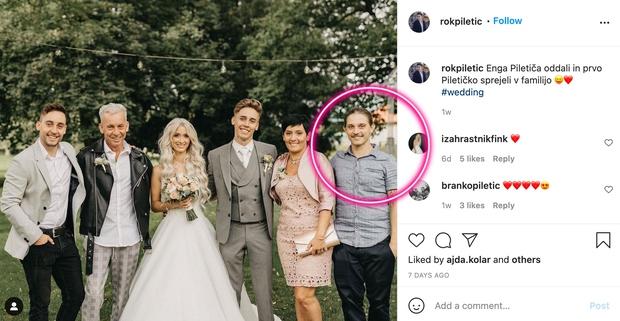 👉Ooo, kako zelo so si vsi trije podobni, se strinjaš? 😍 Ta izjemno simpatična fotka je nastala na poroki najmlajšega …