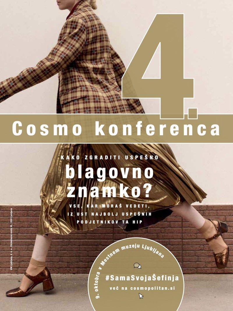 NAPOVEDUJEMO: Prihaja že 4. Cosmo konferenca (z vsebinami, ki ti bodo RES prišle prav)